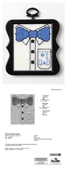 Free Download: Father's Day Mini Stitchable Pattern
