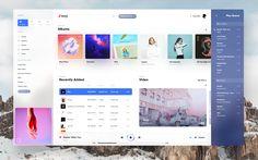 desktop  fluent  music  player  ui  ux