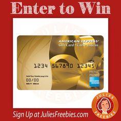 Win a $500 Amex Gift Card - 3 winners