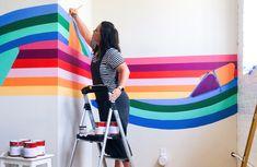 Banyan Bridges | Racheal Jackson | Custom Murals & DIY Interiors Mural Wall Art, Mural Painting, Vct Tile, In A Funk, School Murals, Library Wall, Big Girl Rooms, Kids Church, Diy Interior