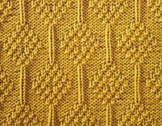 Every Saturday I will share with you a new stitch. Today& stitch is: Moss Stitch Diamonds. Embossed moss stitch diamonds and singl. Knit Purl Stitches, Knitting Stiches, Crochet Stitches Patterns, Knitting Charts, Loom Knitting, Knitting Patterns, Free Knitting, Moss Stitch, Edge Stitch