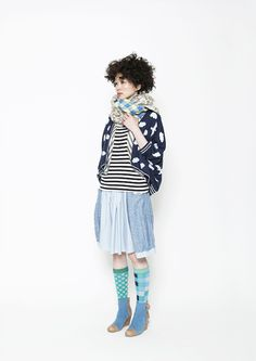 Japanese fashion label Frapbois - Autumn Winter 13 14. This look is all about...knees. The knee is the new sexy!