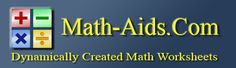 Math-Aids.Com is a FREE resource for teachers, parents, students, and homeschoolers. The math worksheets are randomly and dynamically generated by our math worksheet generators. This allows you to make an unlimited number of printable math worksheets to your specifications right now.