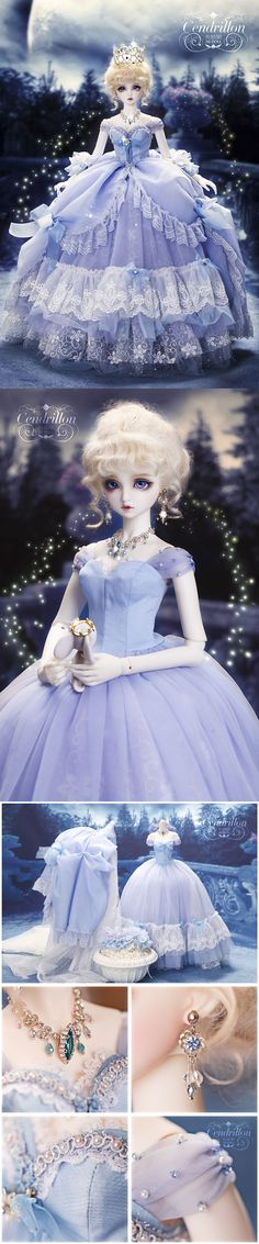 Bjd Clothes Girls 1/3 youth dress --Princess Cinderella CL3150106 for SD Ball-jointed Doll_SD_SD_CLOTHING_Ball Jointed Dolls (BJD) company-Legenddoll
