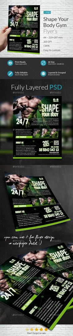 Shape Your Body A4 Flyer Template