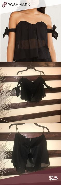 Black off the shoulder top Akira NWT Make an offer Mesh  Woven Strapless Party OOTD NIGHT OUT OOTD AKIRA Tops