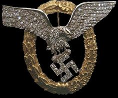 The pilot's badge with diamonds was only awarded to Hermann Göring during ww2.