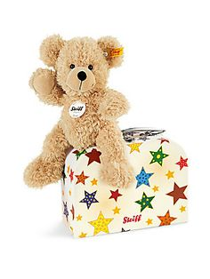 Steiff Fynn Teddy Bear  amp  Suitcase - Beige Babies First Christmas 5bceae452d8c0
