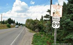 US Route 89 in Idaho--and the Oregon Trail Bear Lake Scenic Byway