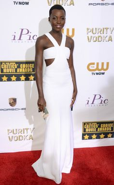 Lupita Nyong'o in Calvin Klein, from 2014 Critics' Choice Movie Awards | E! Online