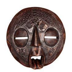 AM-36C Zebra Dark 50cm Hand Carved Wooden Mask African Tribal Mask
