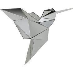 Spiegel Origami Kolibri 124x100cm