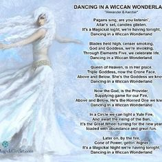 Dancing in a Wiccan Wonderland -Pagan  song lyrics