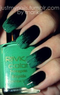 Black and Green Dry brush