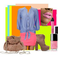 """""""go Neon Fashion"""" by gl0ry on Polyvore Chanel, Neon, Polyvore, Image, Ideas, Fashion, Neon Tetra, Moda, La Mode"""