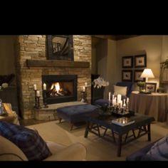 basement fireplace?
