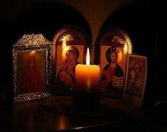 Κύριε ημών Ιησού Χριστέ, Μην εγκαταλείπεις τούς δούλους Σου πού ζουν μακριά από την Εκκλησία, ή αγάπη Σου να ενεργήσει και να τούς φέρει όλους κοντά Σου. Candle Sconces, Civilization, Wall Lights, Faith, Candles, Painting, Beautiful, Appliques, Painting Art