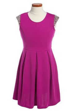Soprano Cap Sleeve Skater Dress (Big Girls) available at #Nordstrom