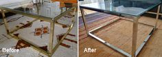 How to strip brass to chrome with oven cleaner ... Brilliant!  http://go.tipjunkie.com/go/dc/1661/www.stylenorth.ca/blog/2011/02/strip-brass-with-oven-cleaner/