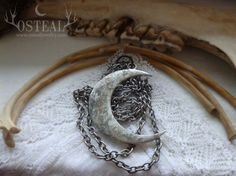 Wolf Moon -   Old Silver by Osteal on Etsy www.osteal.etsy.com wolf, moon, silver, boho, etsy, crescent, gypsy
