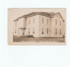 Lamesa Public School  RPPC Texas Postmarked 1 cent stamp