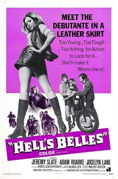 Hell's Belles - The Grindhouse Cinema Database Biker Movies, Cult Movies, Hd Movies, Good Girl, Old Movie Posters, Vintage Posters, Cinema Posters, Vintage Ads, Mafia