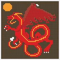 Square Chart for cross stitch and crochet colourwork  Cross stitch preview Knitting Chart V stitch preview  Buy the PDF with 4 zoom char...