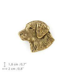 Golden Retriever head millesimal fineness 999 by ArtDogshopcenter