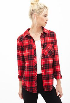 Plaid Flannel Button-Down | Forever 21 - 2000120258