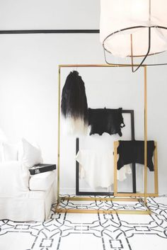 Luxe Clothes Rack: Remodelista