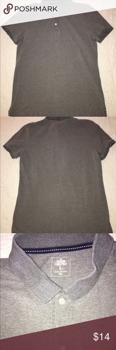 Men's Gap Modern Pique Polo, Gray - Large Great casual men's Polo from the Gap. Style is The Modern Pique Polo and it is a size large. It is gray and it has two buttons on the top. It is 100% cotton. GAP Shirts Polos