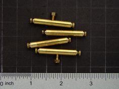 Vintage Brass Standoffs threaded post legs by SteampunkArtSupplies