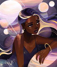 Black Love Art, Black Girl Art, Pretty Art, Cute Art, Arte Black, Black Girl Cartoon, Illustration Mode, Black Art Pictures, Black Anime Characters