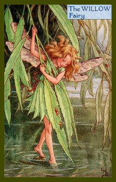 Olde America Antiques | Quilt Blocks | National Parks | Bozeman Montana : Cicely Barker Fairies - The Willow Fairy