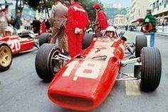 #18 Lorenzo Bandini...Scuderia Ferrari SpA SEFAC...Ferrari 312...Motor Ferrari 242 V12 3.0...GP Monaco 1967
