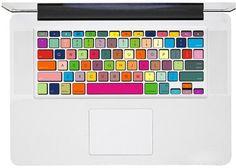Colorful Keyboard, Macbook Keyboard Decal