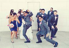 fun wedding party photo!