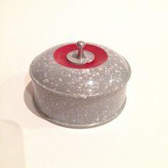 Vintage Grey Bakelite Trinket/Stud Box by VioletsEmporium on Etsy Mint, Art Deco Home, Detachable Collar, Red Paint, Small Boxes, Box Art, Trinket Boxes, Shapes, Vintage