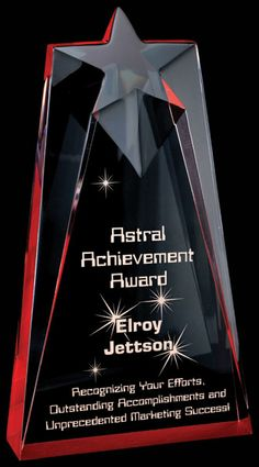 Radiant Acrylic Awards - Red Astral (Extra Thick)