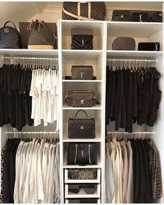 63 Ideas for white wardrobe closet bedrooms Walk In Closet Design, Bedroom Closet Design, Master Bedroom Closet, Closet Designs, Bedroom Black, Master Bedrooms, Wardrobe Room, White Wardrobe, White Closet