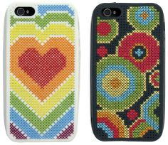 iPhone 5 Phone Cases Bright Cross Stitch Kit (includes 2 cases) - only £13.50 on Past Impressions
