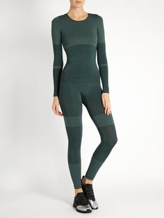 1e0805ecf8716 Adidas By Stella McCartney Seamless long-sleeved performance top Stella  Mccartney Adidas, Active Wear