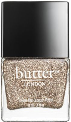 The 444 by butter LONDON | A full coverage champagne glitter created exclusively for Fashion Week