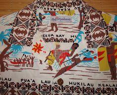 Mens Vintage 50s Duke Kahanamoku Hawaiian Aloha by thehanashirtco