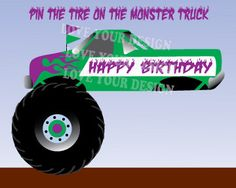 Trendy Ideas For Monster Truck Birthday Party Games Monster Truck Games, Monster Truck Room, Monster Truck Birthday, Monster Party, Monster Jam, Digger Birthday Parties, Digger Party, Birthday Party Games, 4th Birthday