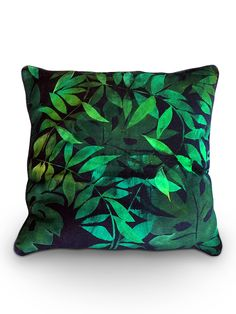This 'Botany' cushion cover is made from pure dark blue Swedish linen, decorated with layers of lush green foliage.  Chiara Grifantini free-paints all of her designs on to each piece of fabric by hand.Dimensions: 60 cms x 60 cms.Bespoke sizes are available.  Please contact concierge@wrightandsmith.comChiara handpaints each cushion cover to order and each piece is therefore unique.  Your cushion cover will be very similar, but not identical, to the sample shown here.Delivery lead time is 3-4…