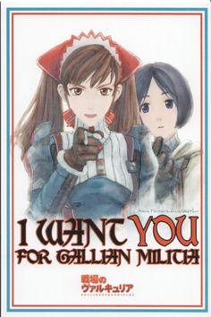 "vgprintads:  ""Valkyria Chronicles -'Gallian Militia Propaganda Poster'"" [Japan, Poster]via RP-Gamer"