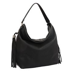 Dasein Fringe Studded Faux Leather Soft Hobo Shoulder Bag Purse for Women *** Learn more by visiting the image link.Note:It is affiliate link to Amazon.