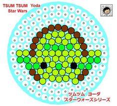 Yoda - Star Wars ''Tsum Tsum'' Perler Bead Pattern