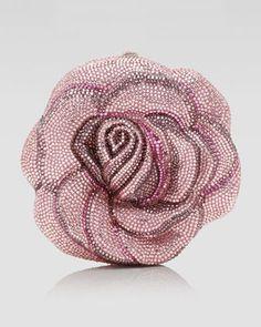 Judith Leiber New Rose American Beauty Clutch Bag